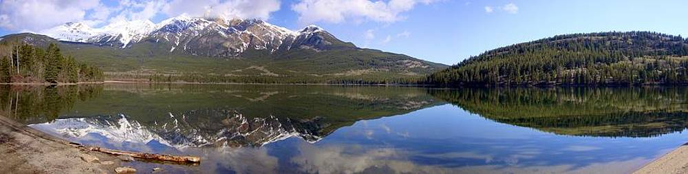 Pyramid Lake Mountain Reflections - Jasper, Alberta by Ian Mcadie