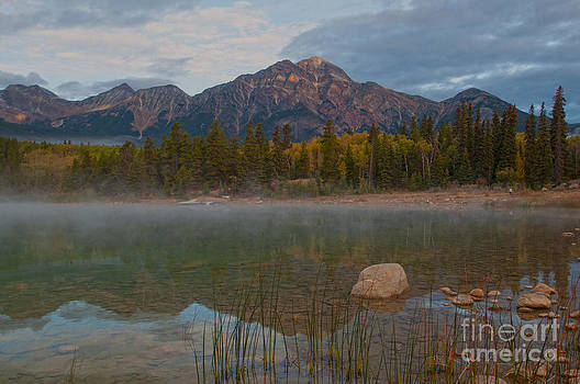 Pyramid Mountain Morning  by Judy Grant