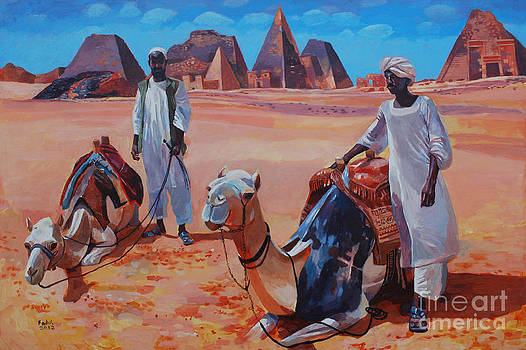 Pyramids in Sudan by Mohamed Fadul