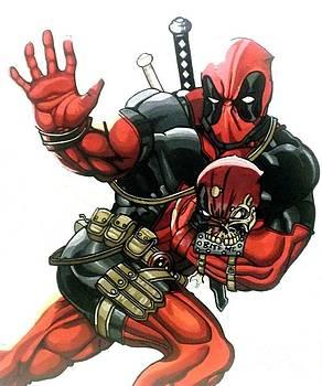 QB Deadpool Headpool by Jin Kai