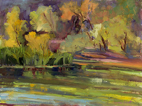 Quail Hollow Fall Reflections by Suzanne Elliott