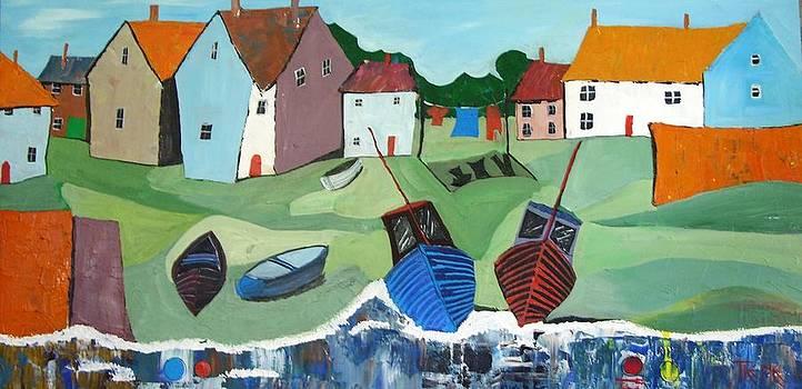 Quaint Fishing Village by Trudy Kepke