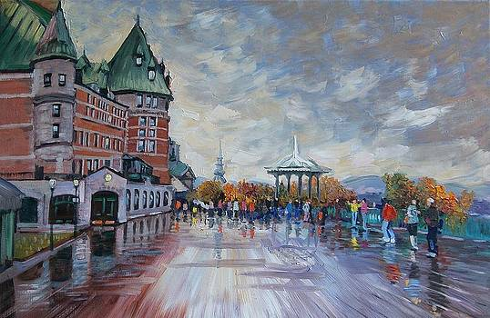 Quebec city after the rain  by Efim Melnik