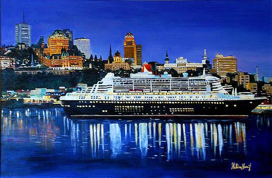Quebec Harbor by Helene Khoury Nassif