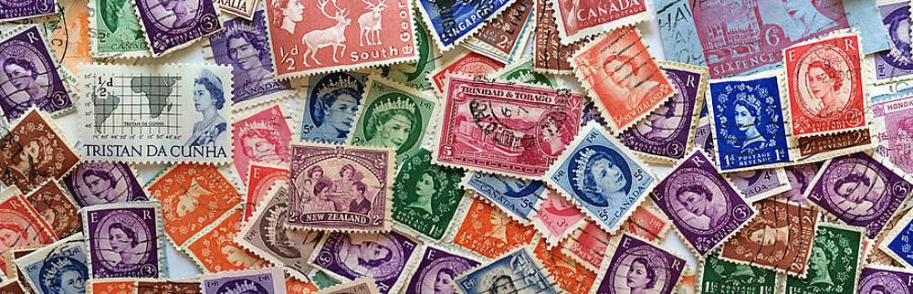 Bill Owen - Queen Elizabeth Stamp Collage Panorama