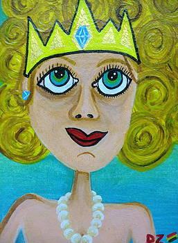 Queen Of Diamonds by Diego  Zegarra