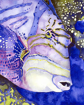 Pauline Walsh Jacobson - Queen Triggerfish Portrait