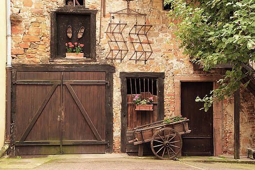Quiet Courtyard in Alsace France by Greg Matchick