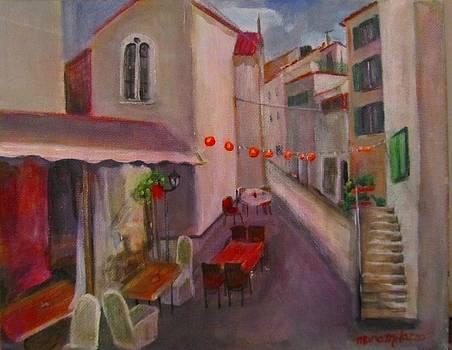 Quiet Morning on Dobric Six Split Croatia by Maria Milazzo