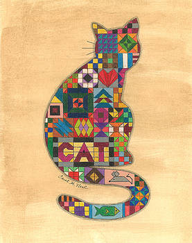 Quilted Cat by Carol Neal