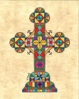 Quilted Cross by Carol Neal