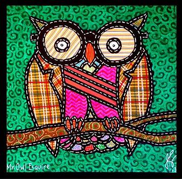 Jim Harris - Quilted Mr Owl Esquire