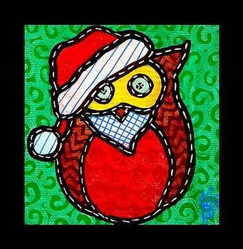 Jim Harris - Quilted Santa Owl 2013