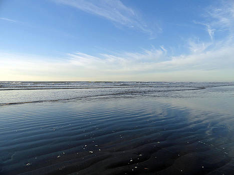 Robert Meyers-Lussier - Quinault Beach Patterned Reflection