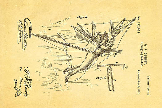 Ian Monk - Quinby Flying Apparatus 2 Patent Art 1872
