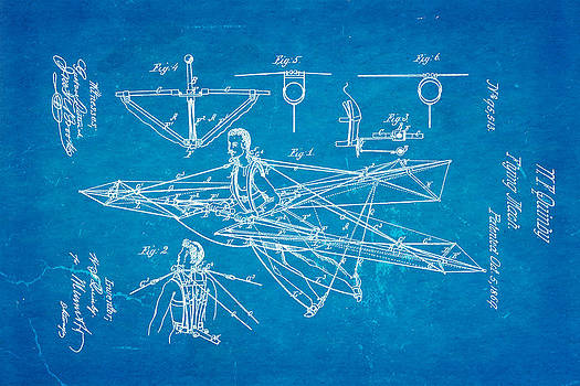 Ian Monk - Quinby Flying Machine Patent Art 1869 Blueprint