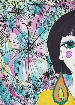 Quirky Flower Girl by Rosalina Bojadschijew