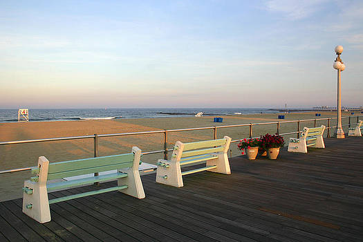 Quite Benches in Avon-by-the-sea by Kelly S Andrews