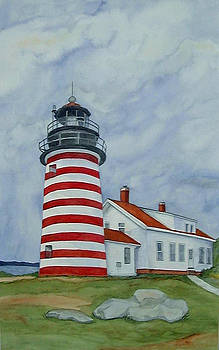 Quoddy Light by Patricia Hooks