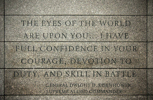RicardMN Photography - Quote of Eisenhower in Normandy American Cemetery and Memorial