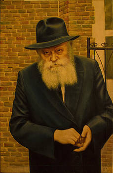 Rabbi Menachem Mendel Shneerson. by Eduard Gurevich