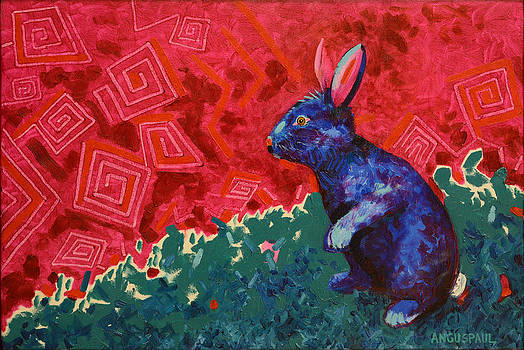 Rabbit Contemplating String Theory   by Anguspaul Reynolds