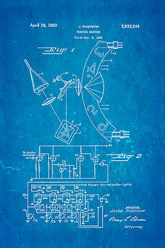 Ian Monk - Rabinow Reading Machine Patent Art 1960 Blueprint