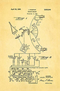 Ian Monk - Rabinow Reading Machine Patent Art 1960