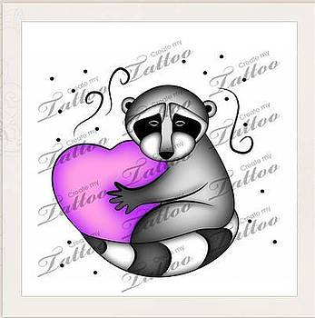 Jeanette K - Raccoon with Heart