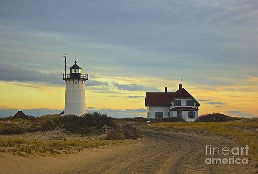 Race Point Lighthouse at Sunset by Amazing Jules
