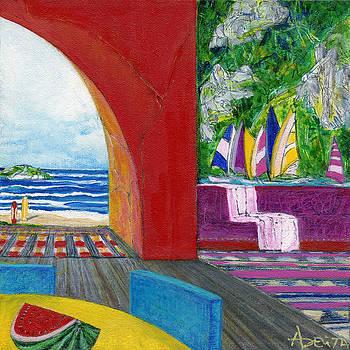Racing Boats by Adelita Pandini