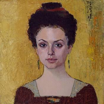 Rackel Portrait of young woman by Liubov Meshulam Lemkovitch