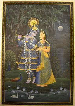Radha Krishna by Hari Om Sharma