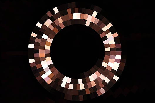 Radial Mosaic in Brown by Todd Soderstrom