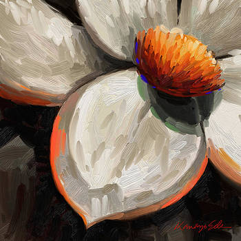Kanayo Ede - Radiance - big white flower