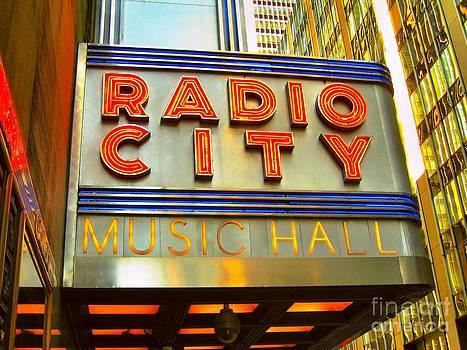 Radio City Music Hall by Judy Palkimas