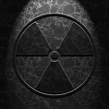 Radioactive Symbol Black Marble Texture by Brian Carson