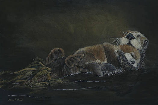 RAFT OF LIFE-Sea Otters by Patricia Mansell