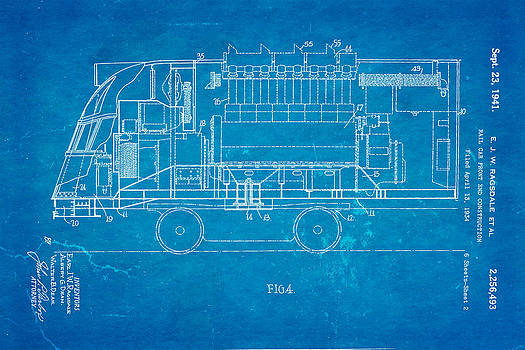 Ian Monk - Ragsdale Pioneer Zephyr Train 2 Patent Art 1941 Blueprint