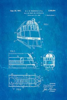 Ian Monk - Ragsdale Pioneer Zephyr Train  3 Patent Art 1941 Blueprint
