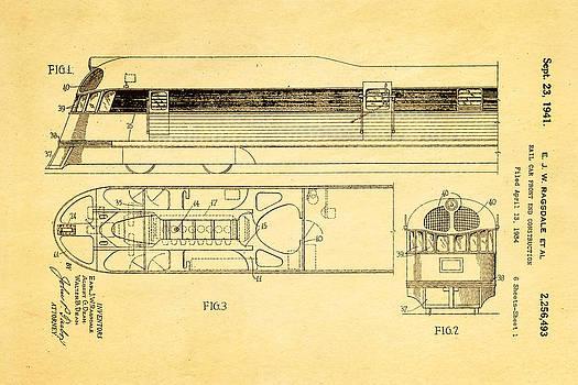 Ian Monk - Ragsdale Pioneer Zephyr Train Patent Art 1941