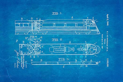 Ian Monk - Ragsdale Train Vehicle Patent Art 1940 Blueprint