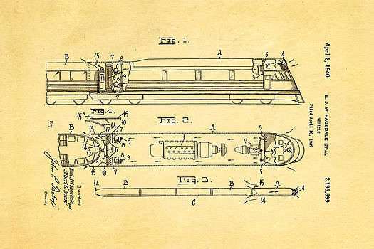 Ian Monk - Ragsdale Train Vehicle Patent Art 1940