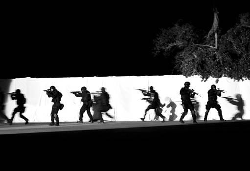Raid At Bin Laden's Compound by Enrique Rueda