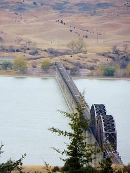 Rail bridge over the Missouri by Carli Tolmie