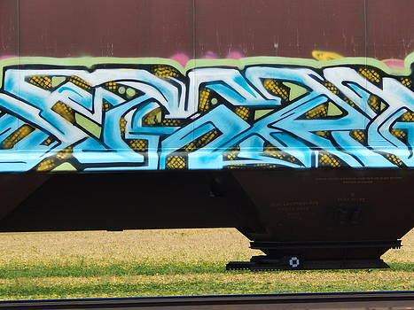 Linda Gonzalez - Rail Line Graffiti
