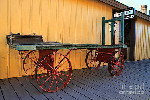 Rail Station Cart by Edward R Wisell