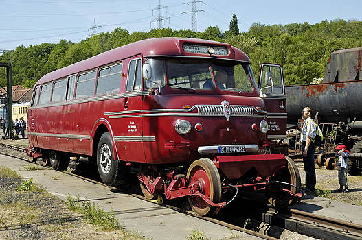 Railbus at Railway Museum Germany by David Davies