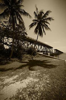 ROBERT KLEMM - RAILROAD  BRIDGE IN SEPIA