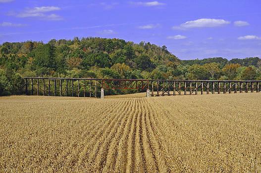 Railroad Bridge Landscape by Hans Castleberg
